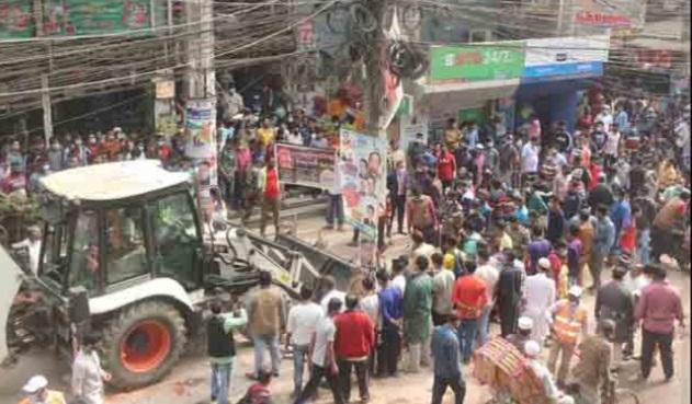 কুমিল্লায় উচ্ছেদ অভিযান অব্যাহত