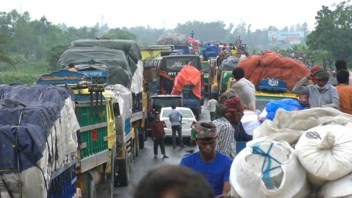ঢাকা-টাঙ্গাইল মহাসড়কে ২৬ কিলোমিটার দীর্ঘ যানজট
